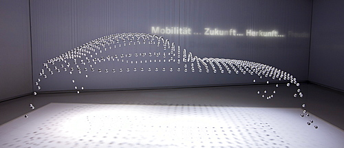 BMW design display at the BMW Museum and Headquarters in Munich, Bavaria, Germany