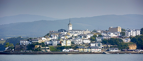 Town of Castropol in Asturias, Northern Spain