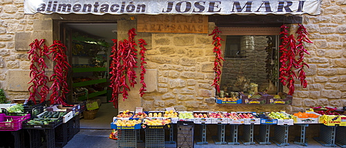 Food shop for groceries and artisan foods, Alimentacion Jose Mari, in Laguardia, Rioja-Alavesa, Basque country, Spain