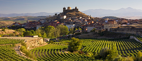 The hill town of Navaridas in La Rioja province of Northern Spain
