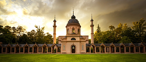 Mosque in Schwetzingen Palace gardens, Schwetzingen, Baden-Wurttemberg, Germany, Europe