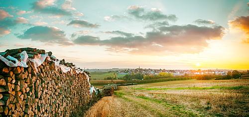 Panorama of Schoenenbourg area, Bas-Rhin, France, Europe