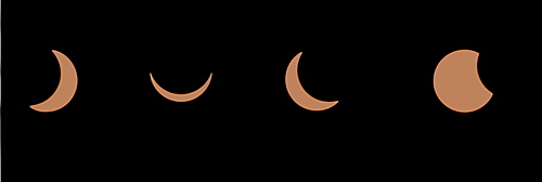 Composite sequence of a solar eclipse, United Kingdom, Europe