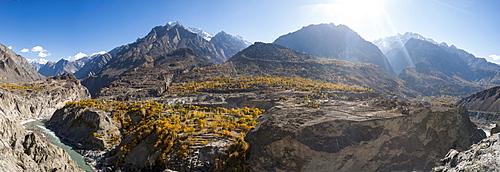 Dramatic Himalayan mountains in the Skardu valley, Gilgit-Baltistan, Pakistan, Asia