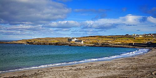 Kilmurvey Village and Beach, Inish More, Aran Islands, Republic of Ireland, Europe