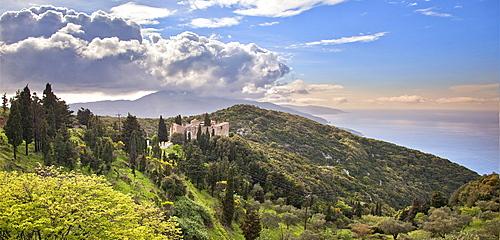 Monastery of Agia Varvara, Skopelos, Sporades Island group, Greek Islands, Greece, Europe