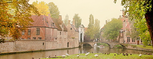 Begijnhof, Bruges, UNESCO World Heritage Site, Flemish Region, West Flanders, Belgium