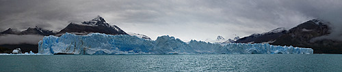 Panoramic view of Perito Moreno Glacier in Los Glaciares National Park, UNESCO World Heritage Site, Santa Cruz Province, Patagonia, Argentina, South America