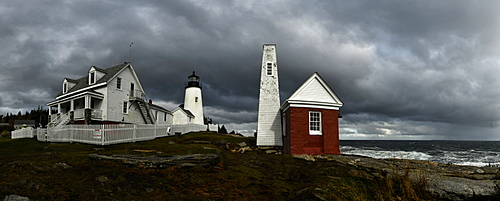 Pemaquid Point Light, Maine, New England, United States of America, North America