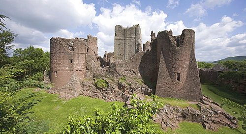 Goodrich Castle, Wye Valley, Herefordshire, England, United Kingdom, Europe