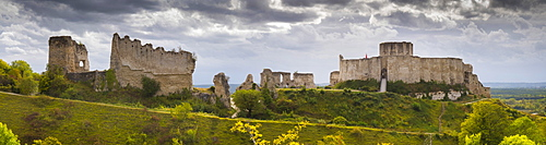 Chateau Gaillard panorama, Les Andelys, Eure, Normandy, France, Europe
