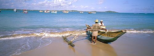 Beach at Weligama, south coast, Sri Lanka, Indian Ocean, Asia