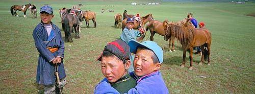 Naadam horse race, Ovorkhangai province, Mongolia, Central Asia, Asia