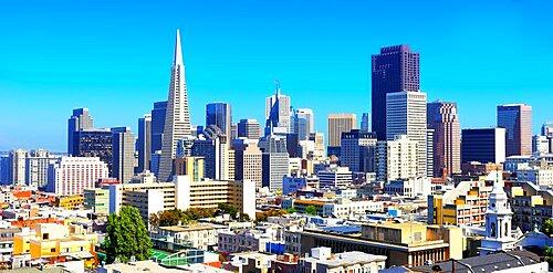 Financial district skyline, San Francisco, California, USA