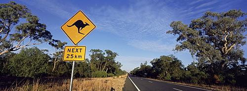 Kangaroo road sign, New South Wales, Australia, Pacific