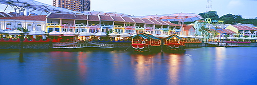 Clarke Quay at dusk, Singapore