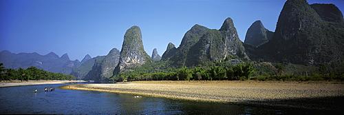 Landscape along Lijiang river, Guilin, China
