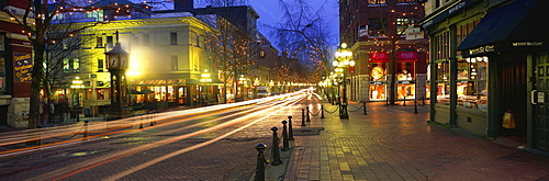 Gastown in the evening, Vancouver, Canada