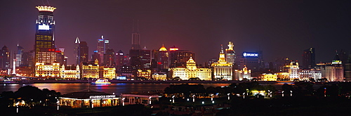 The Bund from Pudong at night, Shanghai