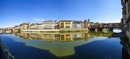 Arno river and Ponte Vecchio bridge,Florence,Tuscany, Italy, Europe