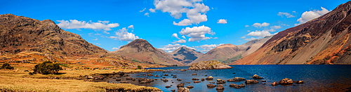 Wastwater and Great Gable, Wasdale Valley, Lake District National Park, Cumbria, England, United Kingdom, Europe