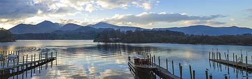 Boat landings, Derwentwater, Keswick, Lake District National Park, Cumbria, England, United Kingdom, Europe