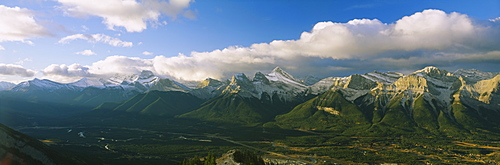Rocky Mtns w Canmore below Alberta Canada