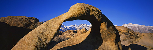 Close-up of a natural arch, Lone Pine Peak, Mt Whitney, California, USA
