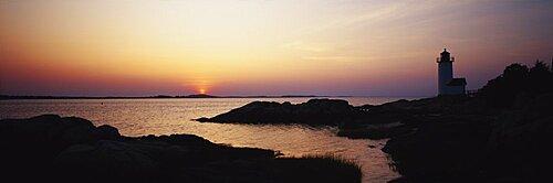 Sunset, Cape Ann Lighthouse, Gloucester, Massachusetts, USA
