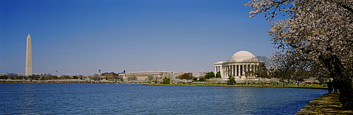 River in front of a monument, Washington Monument, Washington DC, USA