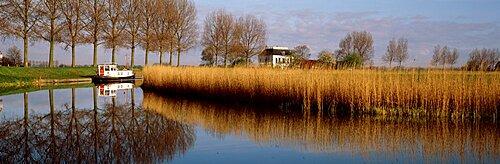 Boat On A Pond, Oudendijk, Holland