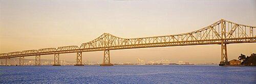 Low angle view of a bridge, Bay Bridge, California, USA