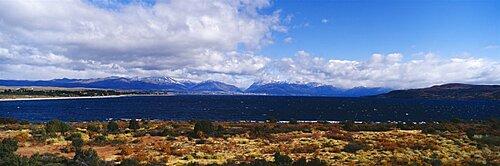 Lake on a landscape, Nahuel Huapi Lake, San Carlos de Bariloche, Patagonia, Argentina