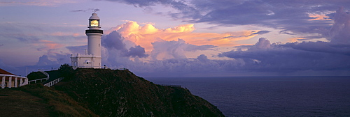 Clouds over a lighthouse, Cape Byron Lighthouse, New South Wales, Australia