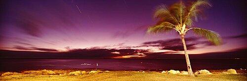 USA, Hawaii, Oahu, Sea in the evening
