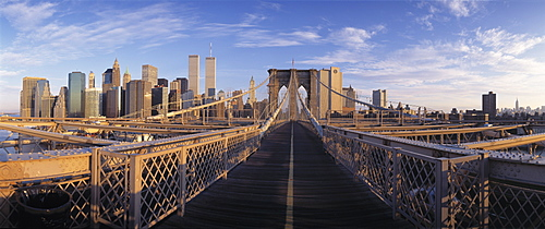 Pedestrian Walkway Brooklyn Bridge New York NY USA