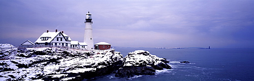 Lighthouse Portland Harbor ME USA