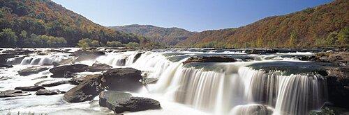 Sandstone Falls New River Gorge WV USA