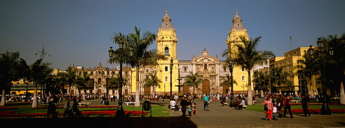 The Cathedral, built in 1564-1625, on the Plaza de Armas, which contains the tomb of Francisco Pizarro the conqueror of the Incas, Highlands, Peru