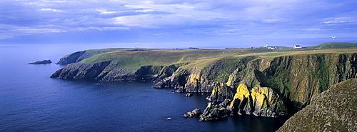 Southeast cliffs of Fair Isle, Shetland Islands, Scotland, United Kingdom, Europe