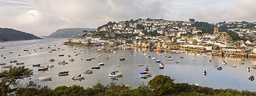 Salcombe and Kingsbridge Estuary from Snapes Point, South Hams, Devon, England, United Kingdom, Europe