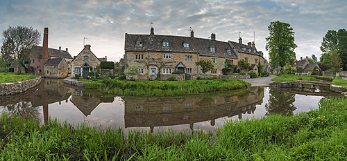 The picturesque Cotswolds village of Lower Slaughter, Gloucestershire, England, United Kingdom, Europe