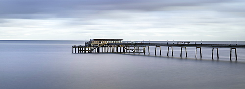 Panoramic picture of Deal Pier, Deal, Kent, England, United Kingdom, Europe