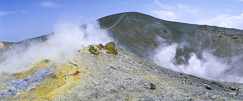 The crater on Vulcano, Aeolian Islands, UNESCO World Heritage Site, island of Sicily, Italy, Mediterranean, Europe