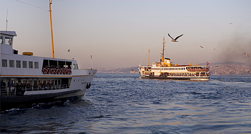 Ferries departing Istanbul, Turkey, Europe