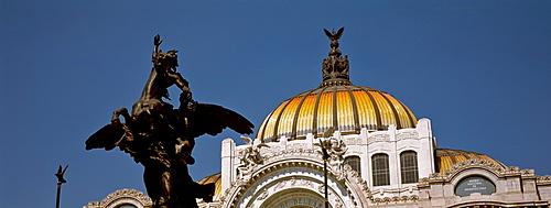 Palacio de Bellas Artes, opera house known for its extravagant Beaux Arts exterior, Mexico City, Mexico, North America