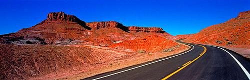 Empty road, Canyonlands National Park, Utah, USA