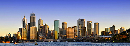 Panorama, Sydney Cove, Circular Quay, harbour, skyline, Central Business District, Sydney, New South Wales, Australia