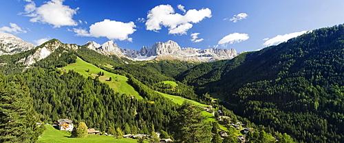 Rosengarten Group Mountains, Catinaccio, near Tiers, Dolomites, Trentino-Alto Adige, Italy, Europe