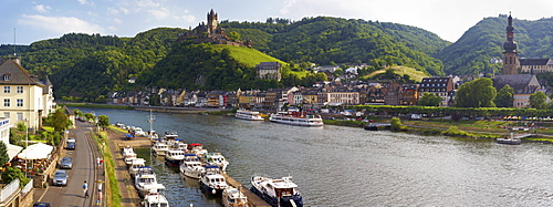 Cochem on the Moselle river, Rhineland-Palatinate, Germany, Europe